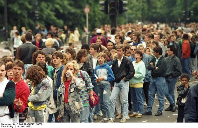 Berlin, Michael Jackson-Konzert, Wartende
